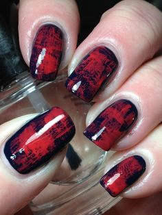 I LOVE the look of this. Click through to see her final look with stamping on top. Canadian Nail Fanatic: Digit-al Dozen Does NEW & Improved; Day 3