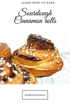 No one can resist cinnamon rolls. These are baked with sourdough starter and laminated dough to get an incredible taste and a crisp bite.