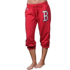 Boston Red Sox Women's Centennial Tri-Blend Capri Pants - Red
