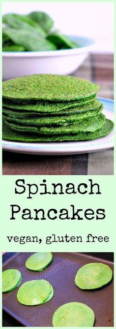 Spinach Pancakes Vegan Gluten Free @spabettie