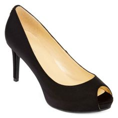 5441a0e0269c Give your look a crisp finish with our sophisticated peep-toe patent pumps  from Liz