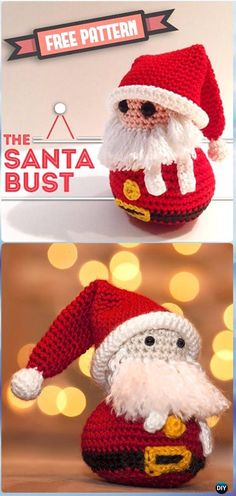 Crochet The Santa Bust Amigurumi Free Pattern - Crochet Santa Clause Free Patterns