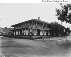 Title:  Exterior view of Casa de Bandini in Old Town  Date:  1930 Jan. 4 1930-01-04  Contributing Institution:  San Diego History Center (formerly San Diego Historical Society)