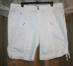 Woman's Size 22W 3X White Bermuda Stretch Shorts by Khaki & Co NEW NWT | eBay