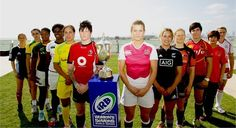 Jen Kish among the other Team Captains at the first event of the Women's Sevens World Series in Dubai