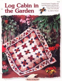 Log Cabin in the Garden    Wall Quilt  Pattern Leaflet w/ Flexible Templates