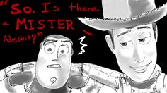Nesbit :Toy Story: by *JereduLevenin on deviantART Disney Pixar, Disney Animation, Disney Art, Woody And Buzz, Toy Story Buzz Lightyear, Cute Kawaii Drawings, Jack Frost, Anime Style, Mini
