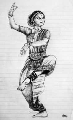 Too lazy to organize Pencil Art Drawings, Art Sketches, Dancing Drawings, Indian Classical Dance, Pencil Shading, Madhubani Painting, Silhouette, Rangoli Designs, Art Sketchbook