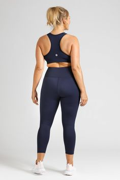 Simple, stylish, squat proof and pocket free, our Women's Activewear Navy Leggings in length are available in sizes in sizes Small to Navy Leggings, Downward Dog, Size 16, Perfect Fit, Active Wear, Tights, Essentials, Sporty, Pockets