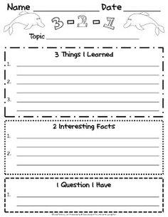 3-2-1 (Lerntagebuch)