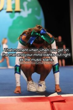 """""""That moment when, when you get on the mat and your mind blanks out right as the music starts."""""""