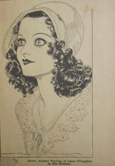 Awesome Original 1932 Newspaper Clipping Of Agnes O' Laughlin By Nell Brinkley