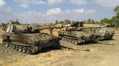 Two M109s on Golan Heights  2016