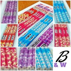 4 x Girls Name Pencils & Erasers - School Party Bag Gift Sam Lisa Amy - Free P&P