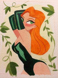 Poison Ivy by Elsa Chang -via Comics Alliance