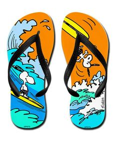 Another great find on #zulily! Orange Surf's Up! Flip-Flop #zulilyfinds