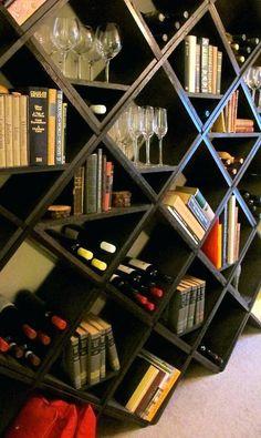 Wine Rack Bookshelf Combo Diy
