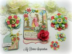 Webster's Pages Girl Land Scrapbook Embellishments Paper Embellishments for Scrapbooking Layouts, Cards, Mini Albums Paper Crafts by mydivineinspiration on Etsy