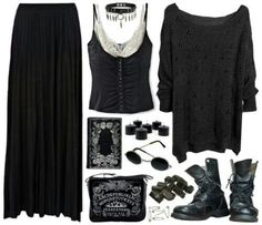Witch-Inspired Outfits Only Witch Fashion Fashion Mode, Dark Fashion, Gothic Fashion, Fashion Outfits, Womens Fashion, Modern Witch Fashion, Bohemian Fashion, Fashion 2018, Goth Outfit