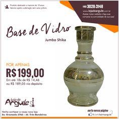 Vidro Jumbo Shika  POR APENAS R$ 199,00 Em até 18x de R$ 14,46 ou R$ 189,05 via depósito  Compre Online: http://www.lojadoarguile.com.br/vidro-jumbo-shika