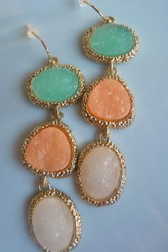 GRAN OPENING SALE 25 Off  Aqua Pale Salmon and by JeweltoneJewelry, $15.00