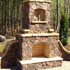 Tulsa Outdoor Fireplace Design   Green Acre Sod Farm