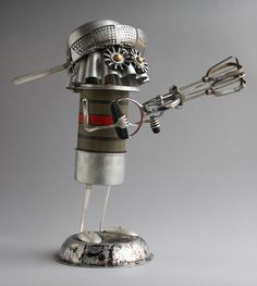 Found Object Robot assemblage sculpture by Brian Marshall/adopt-a-bot, via Flickr