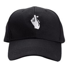 Fingers Crossed Adjustable Baseball Cap