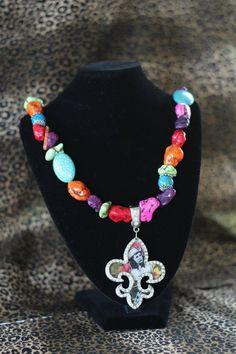 Western Cowgirl Bling Necklace with Pendant. $25.00, via Etsy.