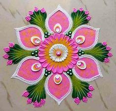 Rangoli Designs Simple Diwali, Simple Rangoli Border Designs, Rangoli Simple, Indian Rangoli Designs, Rangoli Designs Latest, Rangoli Designs Flower, Free Hand Rangoli Design, Small Rangoli Design, Rangoli Patterns