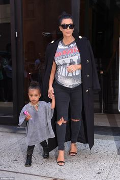 And baby makes four: Kim with her first child, daughter North, two, back in September