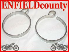 NEW ROYAL ENFIELD FRONT FORK GAITERS DUST COVER CLAMPS
