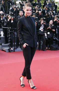 The Week in Style: Barbara Palvin at the Cannes premiere of Behind the Candelabra.