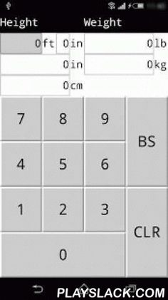 Simple Ht/Wt Units Converter  Android App - playslack.com , This is a simple, quick, no-nonsense height and weight converter app that displays ht/wt simultaneously in one screen. It converts between ft/in and cm, lb and kg, and automatically rounds to the nearest whole number.Buttons are specially crafted to improve input speed.高さの単位フィート、インチ 、センチメートルの変換、重さの単位リブラポンド、キログラムの変換が1画面で行えるシンプルなアプリです。ボタン類が独自実装で速く入力ができ見た目軽快かもしれません。