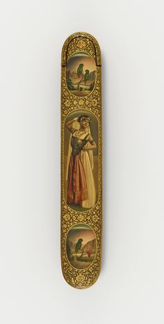 Pen case with the dancer Louise Mante and parrots in medallions Bank Safe, Freer Gallery, The Dancer, Islamic World, Pocket Knives, Pen Case, Parrots, Persian, Sisters