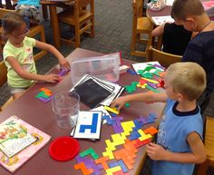 The start of the new school year means another round of library centers after check out time! To talk about our library centers, we read Dan...