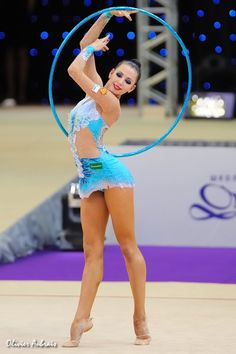 Daria Dmitrieva posing pretty  Rhythmic gymnastics hoop
