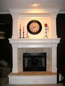 Raised Hearth Fireplace Mantel Home decor Pinterest