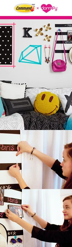 What do you get when you combine chalkboard tape, your favorite posters, your favorite accessories, and Command™ products? A totally eclectic and personalized dorm room style. See more on Dormify.com