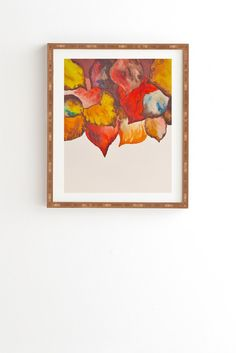 Viviana Gonzalez Autumn abstract watercolor 02 Framed Wall Art | DENY Designs Home Accessories