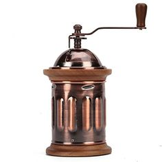 3E Home Manual Canister Stainless steel Burr Coffee Mill Grinder Stainless Steel Top and Antique Copper Body *** Continue to the product at the image link.Note:It is affiliate link to Amazon.