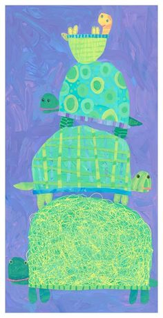Oopsy Daisy Turtle Stack Stretched Canvas Art by Stephanie Bauer, 12 by >>> Check this awesome product by going to the link at the image. (This is an affiliate link) Kindergarten Art, Preschool Art, Animal Art Projects, 2nd Grade Art, Creation Art, Ecole Art, Art Lessons Elementary, Art Lesson Plans, Art Classroom