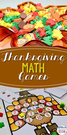 Math games are where engaging teaching is at!  These Thanksgiving math games are perfect for centers in Kindergarten and some First Grade classrooms.  Subitizing, addition, subtraction, skip counting, 2D shapes, 100s chart, counting, it's all included!