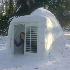 Our shutters always fit perfectly, just like this one in an igloo!