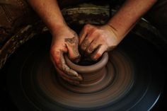 To learn the craft of making pottery... (Used to make mud pottery as a kid, and would love to use clay now. ; )