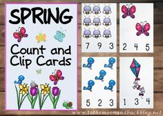 Spring Count and Clip Cards