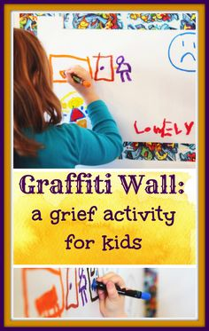 Great activity for helping grieving kids (or any kids coping with difficult emotions) to express their feelings.