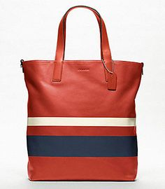 Been dying to buy this! I hope this is still available. Saw this last year. [Coach Variegated Stripe Reversible Tote]
