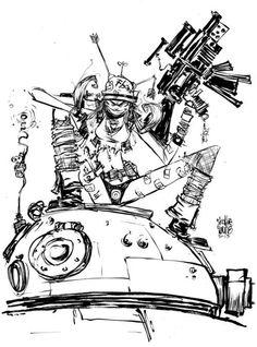 Tank Girl by Skottie Young #tankgirl