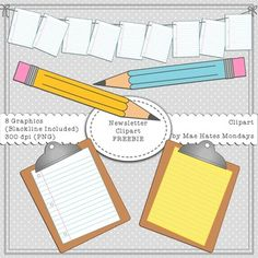 Newsletter clipart - Free Make products, activities, newsletters and presentations stand out using the Mae Hates Mondays Back to School Clipart set. This Mae Hates Mondays freebie collection includes: ~ 8 Graphics Online Classroom, Special Education Classroom, Free Clipart For Teachers, Back To School Clipart, Digital Paper Freebie, Classroom Clipart, Teacher Freebies, Teaching Supplies, 4th Grade Classroom